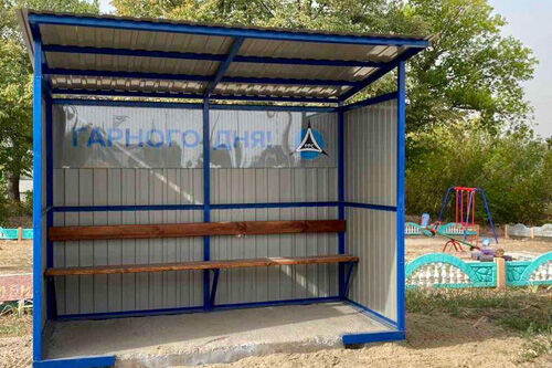 iJV PPC installed bus stops in Poltava region