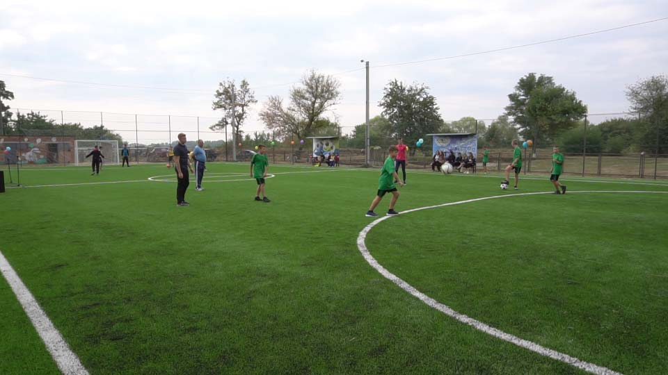 JV PPC participated in construction of a mini-football field in the Nehvroshcha local community